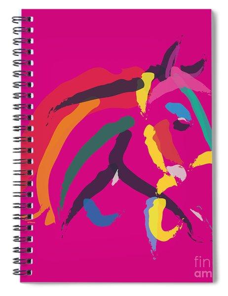 Horse - Colour Me Strong Spiral Notebook