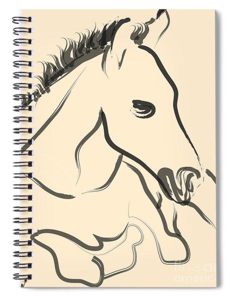 Horse-foal-pure Spiral Notebook