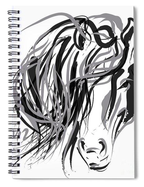 Horse- Hair And Horse Spiral Notebook