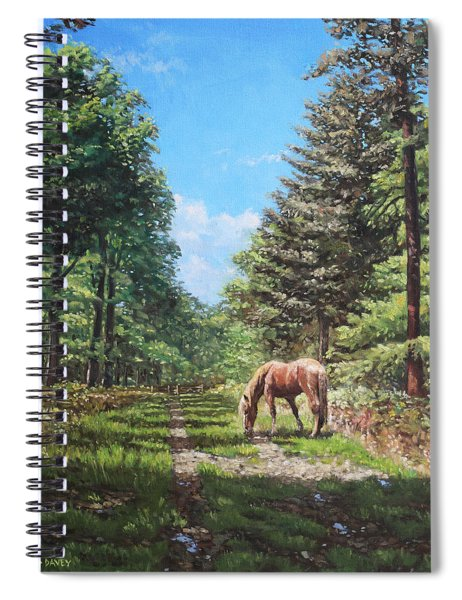 Horse In New Forest Spiral Notebook by Martin Davey
