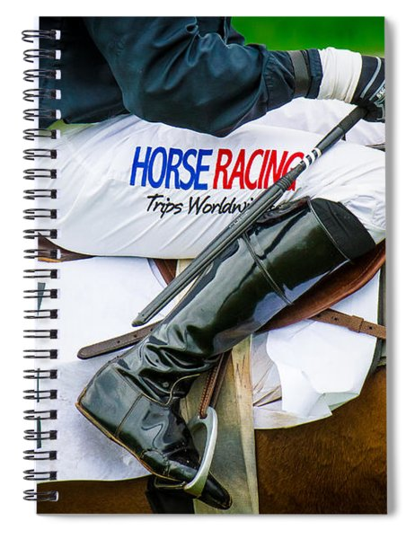 Spiral Notebook featuring the photograph Horse Racing by Robert L Jackson