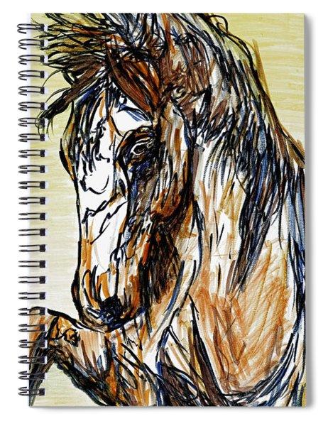 Horse Twins II Spiral Notebook