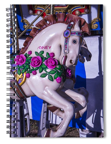 Horse With Roses Spiral Notebook
