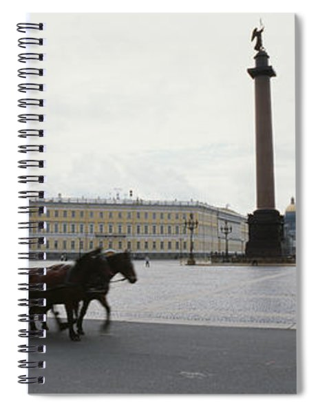 Horsedrawn Carriage In Front Spiral Notebook