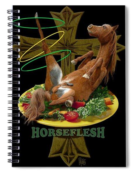 Horseflesh Spiral Notebook