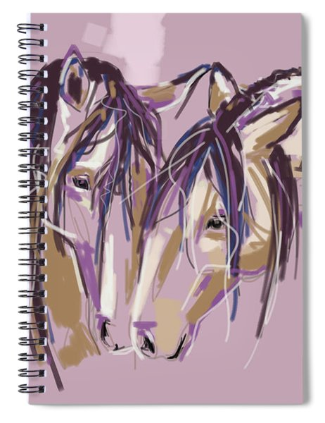 horses Purple pair Spiral Notebook