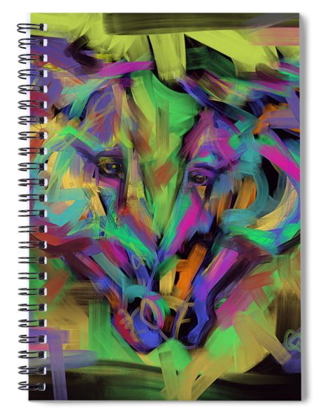 Horses Together In Colour Spiral Notebook