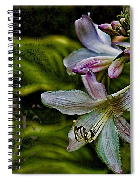Hosta Lilies With Texture Spiral Notebook