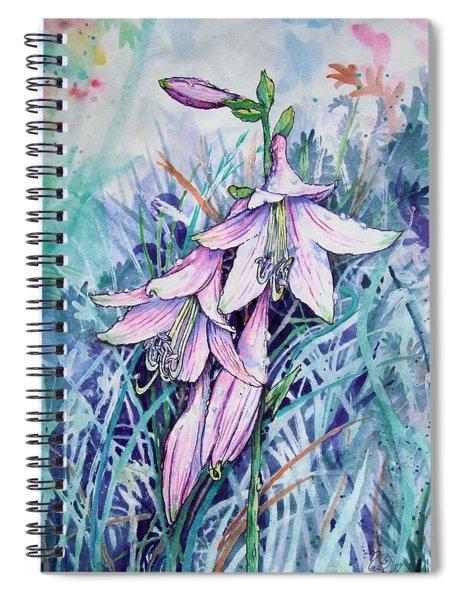 Hosta's In Bloom Spiral Notebook