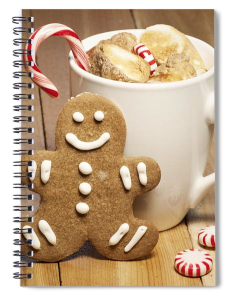 Hot Chocolate Toasted Marshmallows And A Gingerbread Cookie Spiral Notebook