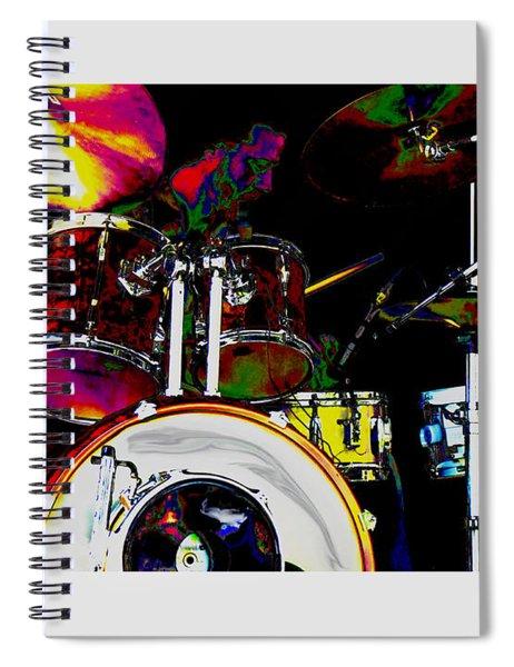 Hot Licks Drummer Spiral Notebook