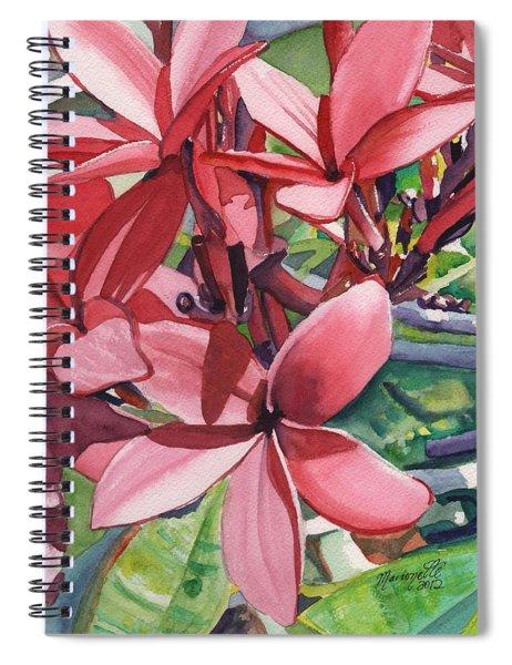 Hot Pink Plumeria Spiral Notebook