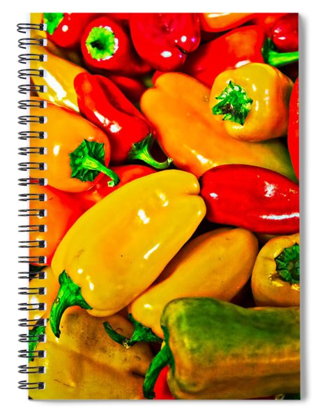 Hot Red Peppers Spiral Notebook
