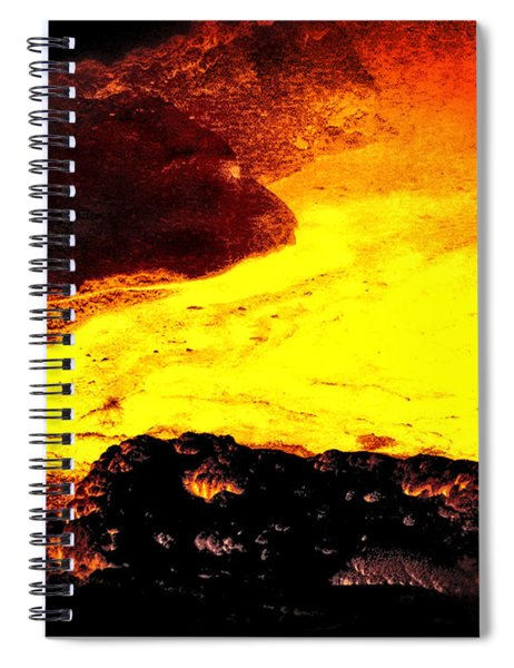 Hot Rock And Lava Spiral Notebook