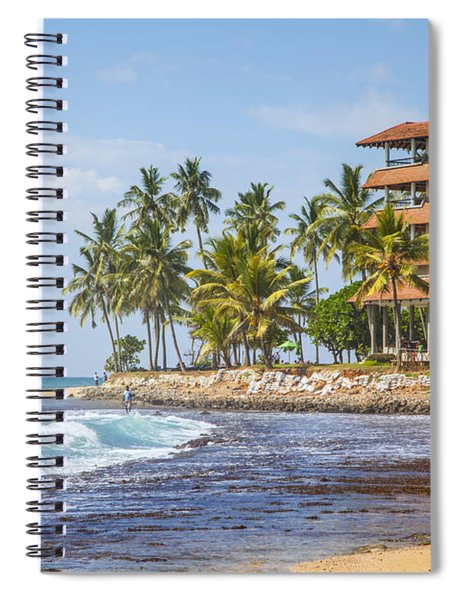 Hotel At The Hikkaduwa Beach  Spiral Notebook
