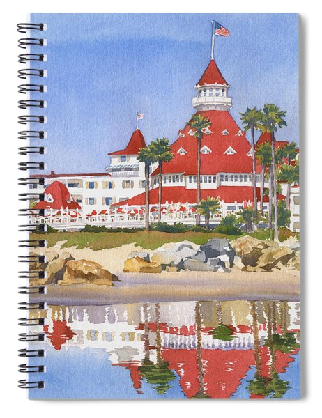 Hotel Del Coronado Reflected Spiral Notebook