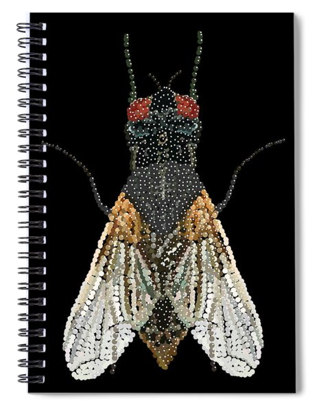 House Fly Bedazzled Spiral Notebook