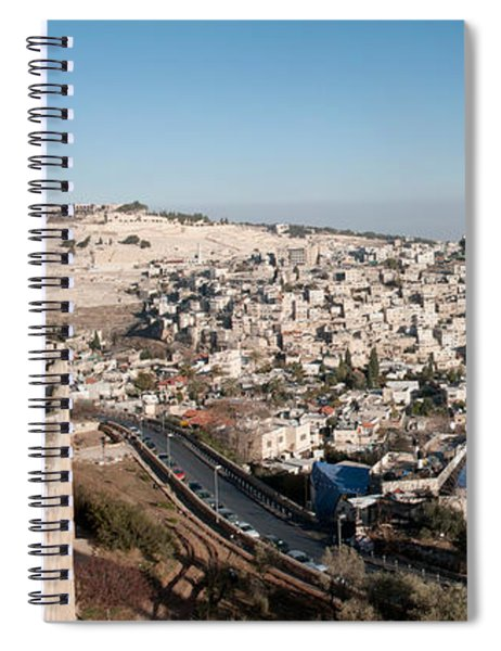 House On A Hill, Mount Of Olives Spiral Notebook