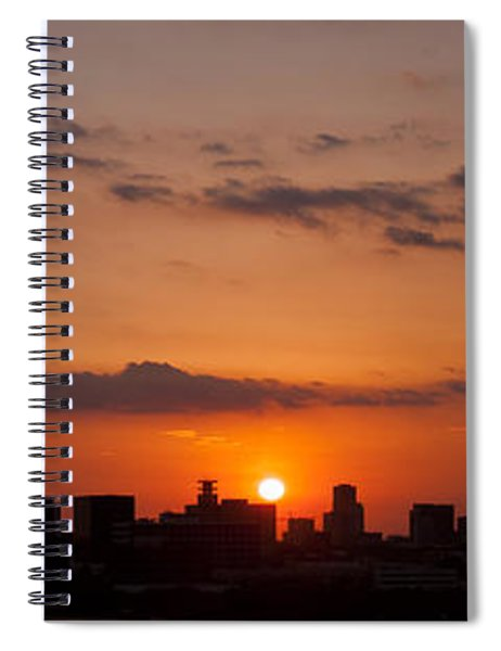 Houston Skyline At Sunset Spiral Notebook