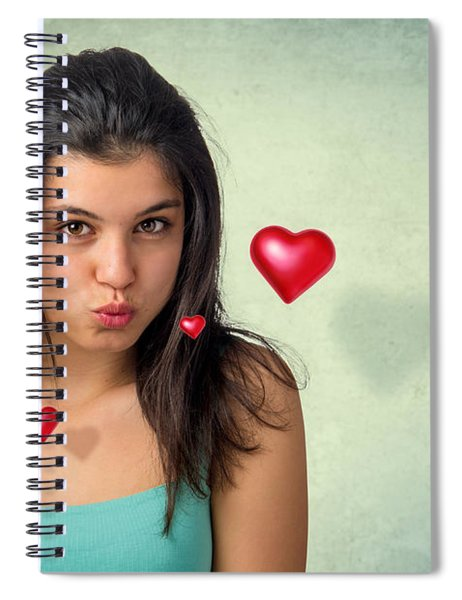 Hovering Hearts Spiral Notebook