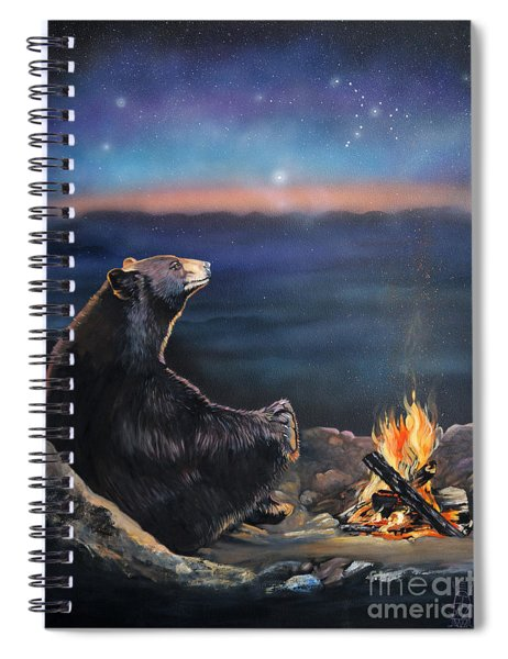 How Grandfather Bear Created The Stars Spiral Notebook