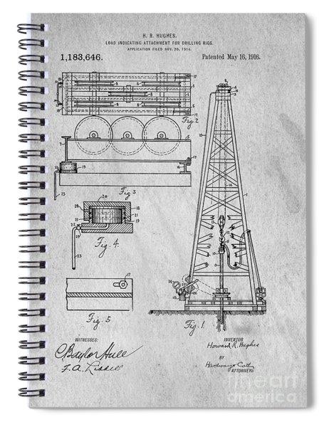Howard Huges Drilling Rig Original Patent Spiral Notebook