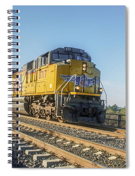 Spiral Notebook featuring the photograph Hp 8717 by Jim Thompson