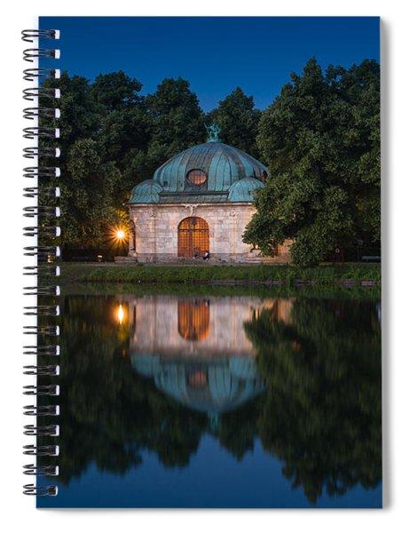 Hubertusbrunnen Spiral Notebook by John Wadleigh