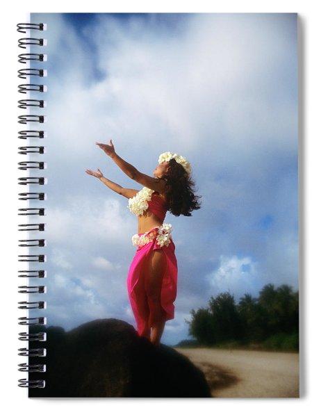 Hula Dancer Hawaii Spiral Notebook