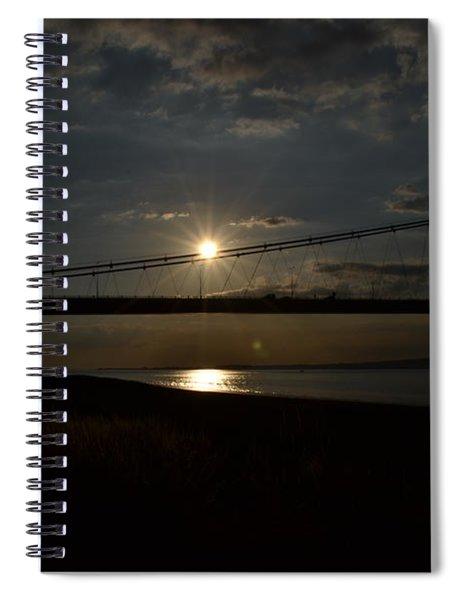 Spiral Notebook featuring the photograph Humber Bridge Sunset by Scott Lyons