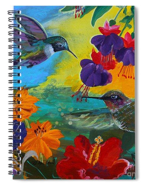Hummingbirds Prayer Warriors Spiral Notebook