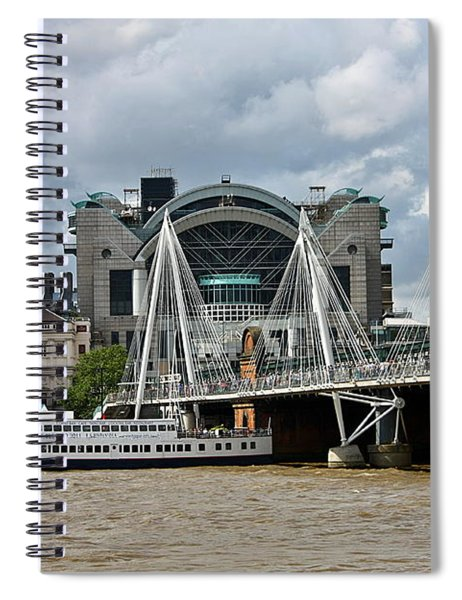 Hungerford Bridge And Charing Cross Spiral Notebook