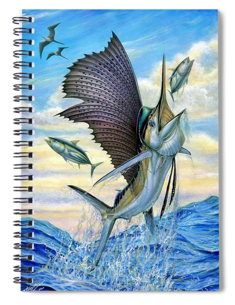 Hunting Of Small Tunas Spiral Notebook
