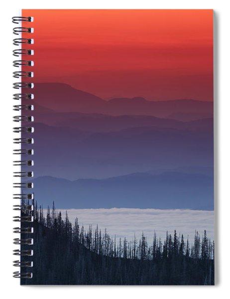 Hurricane Ridge Sunset Spiral Notebook