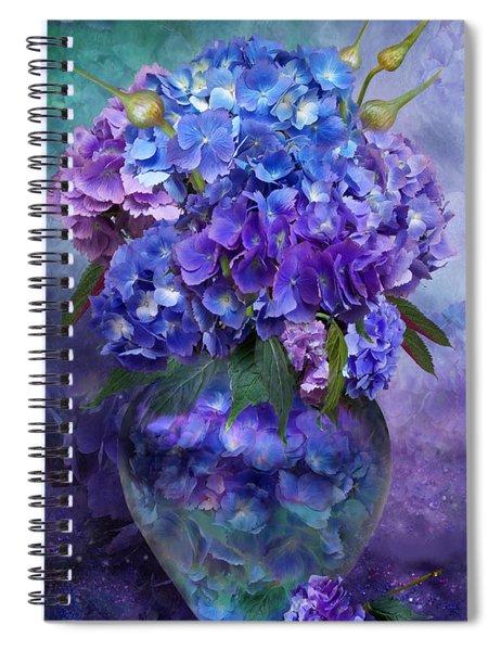 Hydrangeas In Hydrangea Vase Spiral Notebook