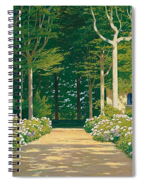 Hydrangeas On A Garden Path Spiral Notebook