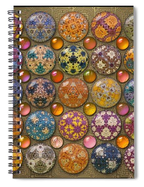 Hyperbolicrochet Kaleidoscope Quilt Spiral Notebook