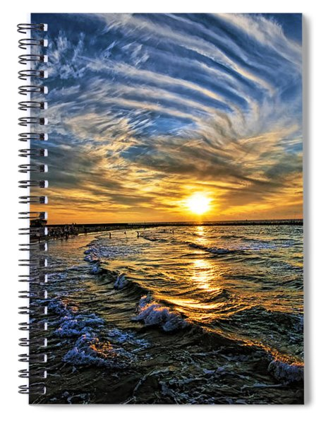 Hypnotic Sunset At Israel Spiral Notebook