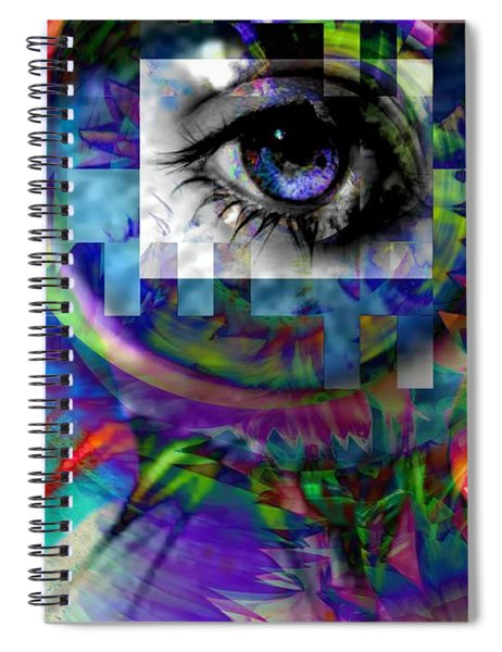 I Abstract Spiral Notebook