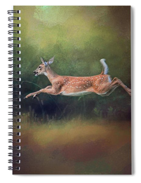 I Can Fly - Deer - Wildlife Spiral Notebook