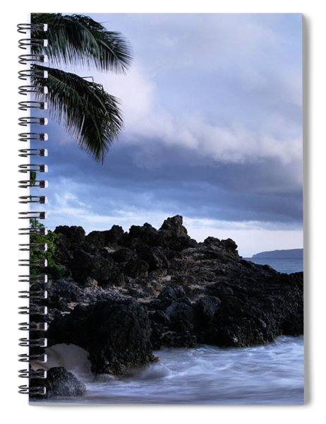 I Ke Kai Hawanawana Eia Kuu Lei Aloha - Paako Beach Maui Hawaii Spiral Notebook