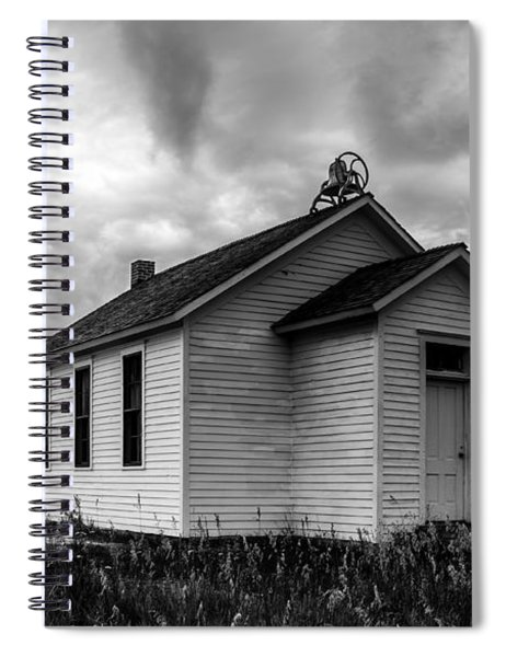 Spiral Notebook featuring the photograph Icarian Schoolhouse by Edward Peterson