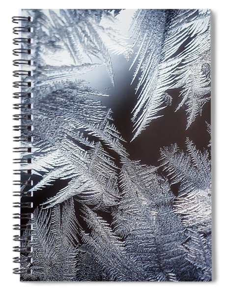 Ice Crystals Spiral Notebook