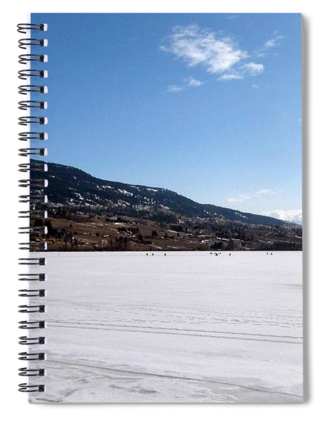 Ice Fishing On Wood Lake Spiral Notebook