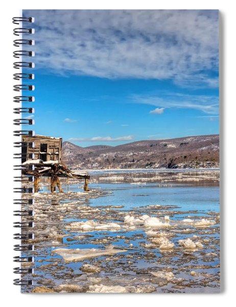 Ice Shack Spiral Notebook
