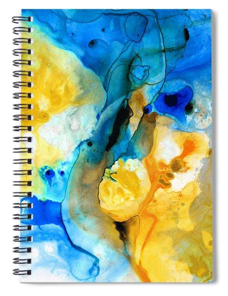 Iced Lemon Drop - Abstract Art By Sharon Cummings Spiral Notebook