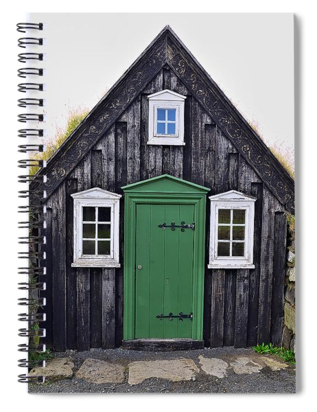 Icelandic Old House Spiral Notebook