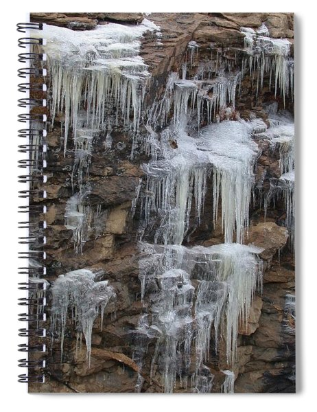 Icicle Cliffs Spiral Notebook