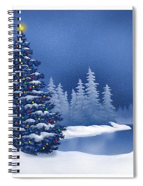 Icy Blue Spiral Notebook