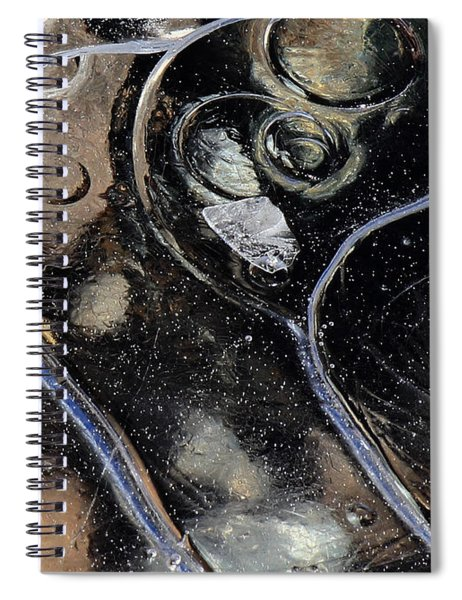 Icy Bubbles Spiral Notebook